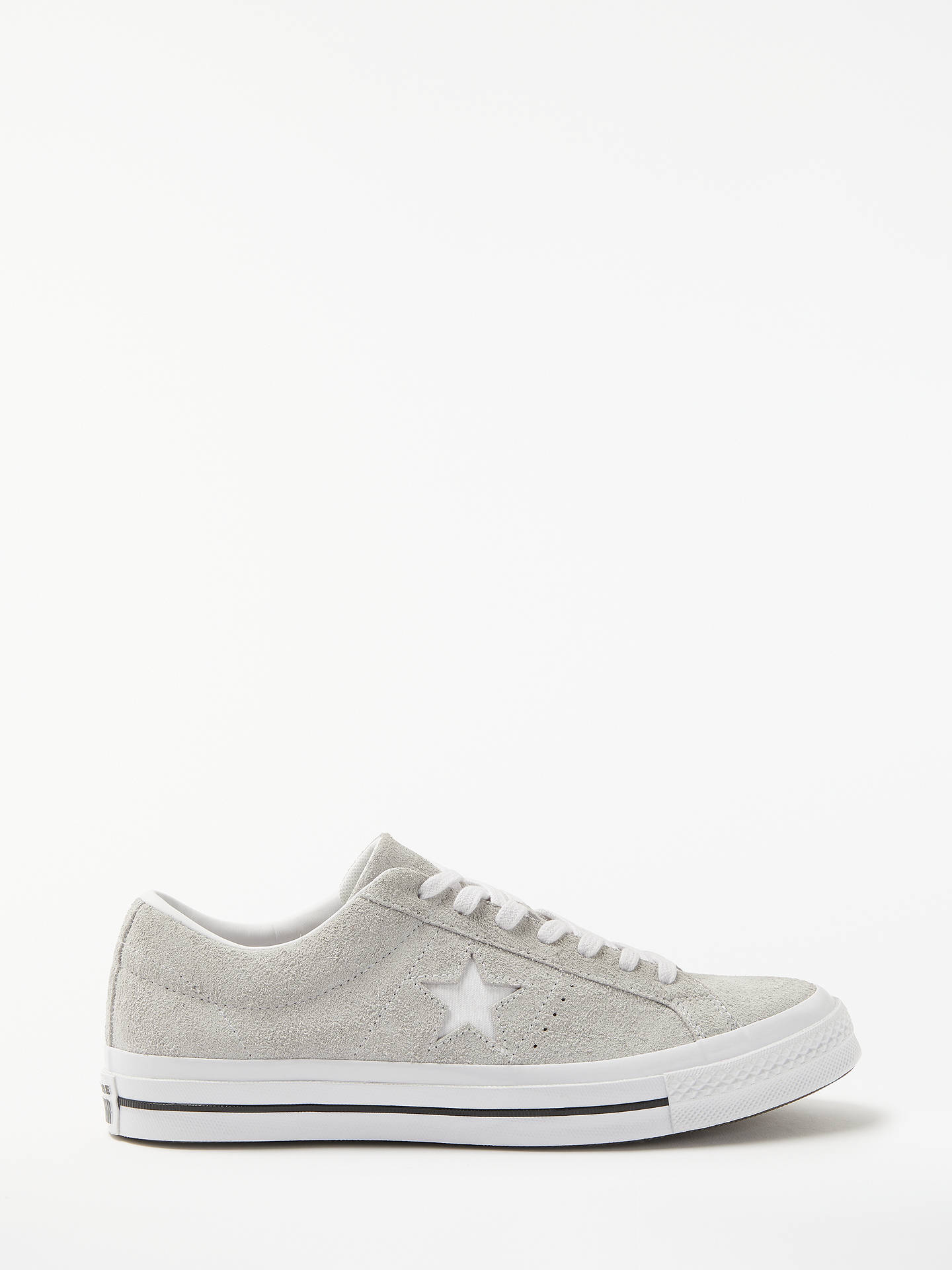 new products 916e6 b17db Buy Converse One Star Suede Trainers, Grey, 7 Online at johnlewis.com ...