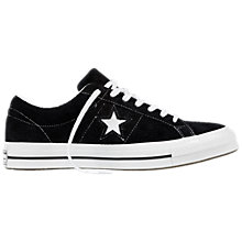 Buy Converse One Star Canvas Trainers, Black Online at johnlewis.com