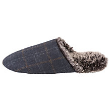 Buy Totes Check Faux Fur Lined Mule Slippers Online at johnlewis.com