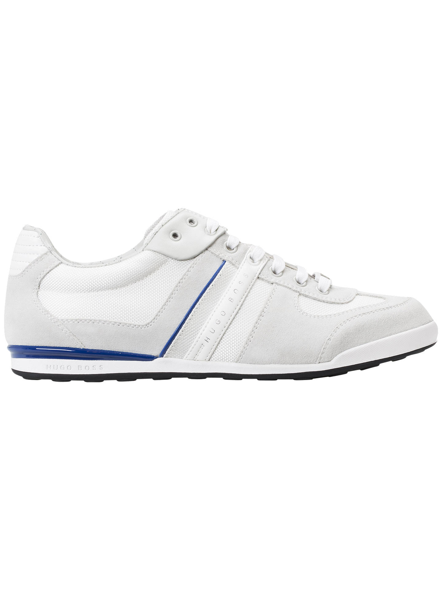 a13bc09f48 Buy HUGO BOSS Akeen Trainers, White, 7 Online at johnlewis.com