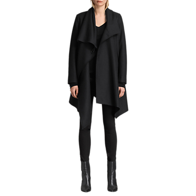 AllSaints City Monument Coat, Black
