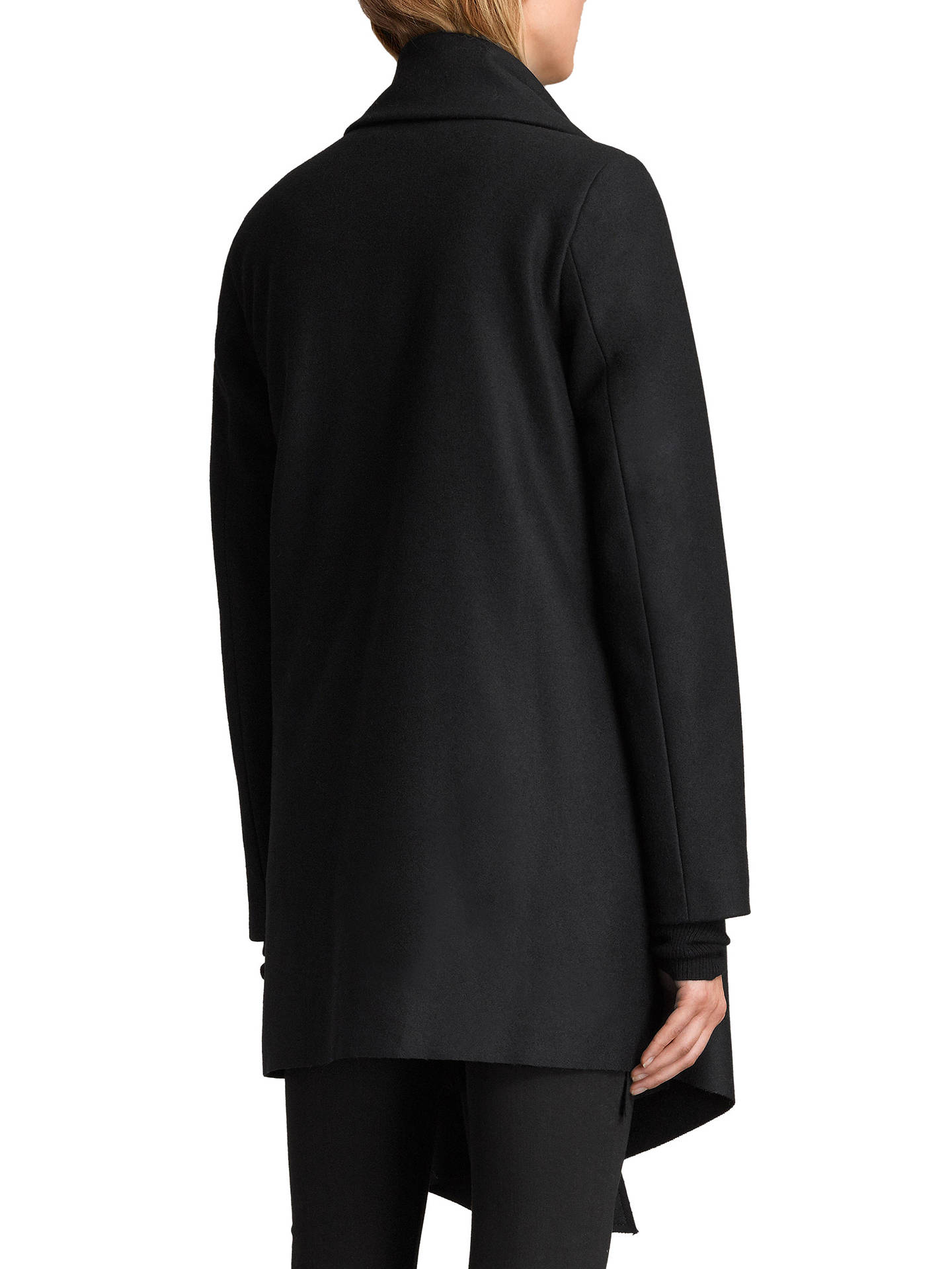 Buy AllSaints City Monument Coat, Black, 6 Online at johnlewis.com