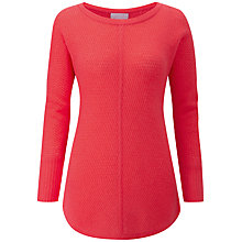 Buy Pure Collection Gassato Cashmere Ribbed Jumper, Rich Coral Online at johnlewis.com