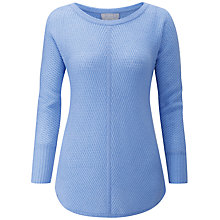 Buy Pure Collection Gassato Cashmere Ribbed Jumper, Sky Blue Online at johnlewis.com