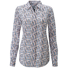 Buy Pure Collection Abstract Ditsy Print Silk Shirt, Multi Online at johnlewis.com