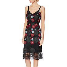 Buy Gina Bacconi Alice Floral Embroidered Dress, Black Online at johnlewis.com