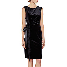 Buy Gina Bacconi Dakota Velvet Lace Frill Dress, Black Online at johnlewis.com