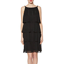 Buy Gina Bacconi Eloise Metallic Effect Dress, Black Online at johnlewis.com