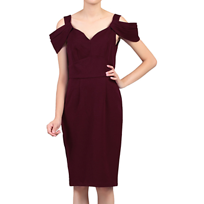 Product photo of Jolie moi fold shoulder shift dress
