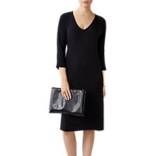 Buy Pure Collection Soft Jersey Dress, Black Online at johnlewis.com