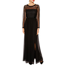 Buy Gina Bacconi Hannah Modern Lace Maxi Dress, Black Online at johnlewis.com