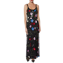 Buy Gina Bacconi Berenice Beaded Maxi Dress, Black/Multi Online at johnlewis.com