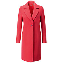 Buy Pure Collection Wool Single Breasted Coat, Coral Online at johnlewis.com