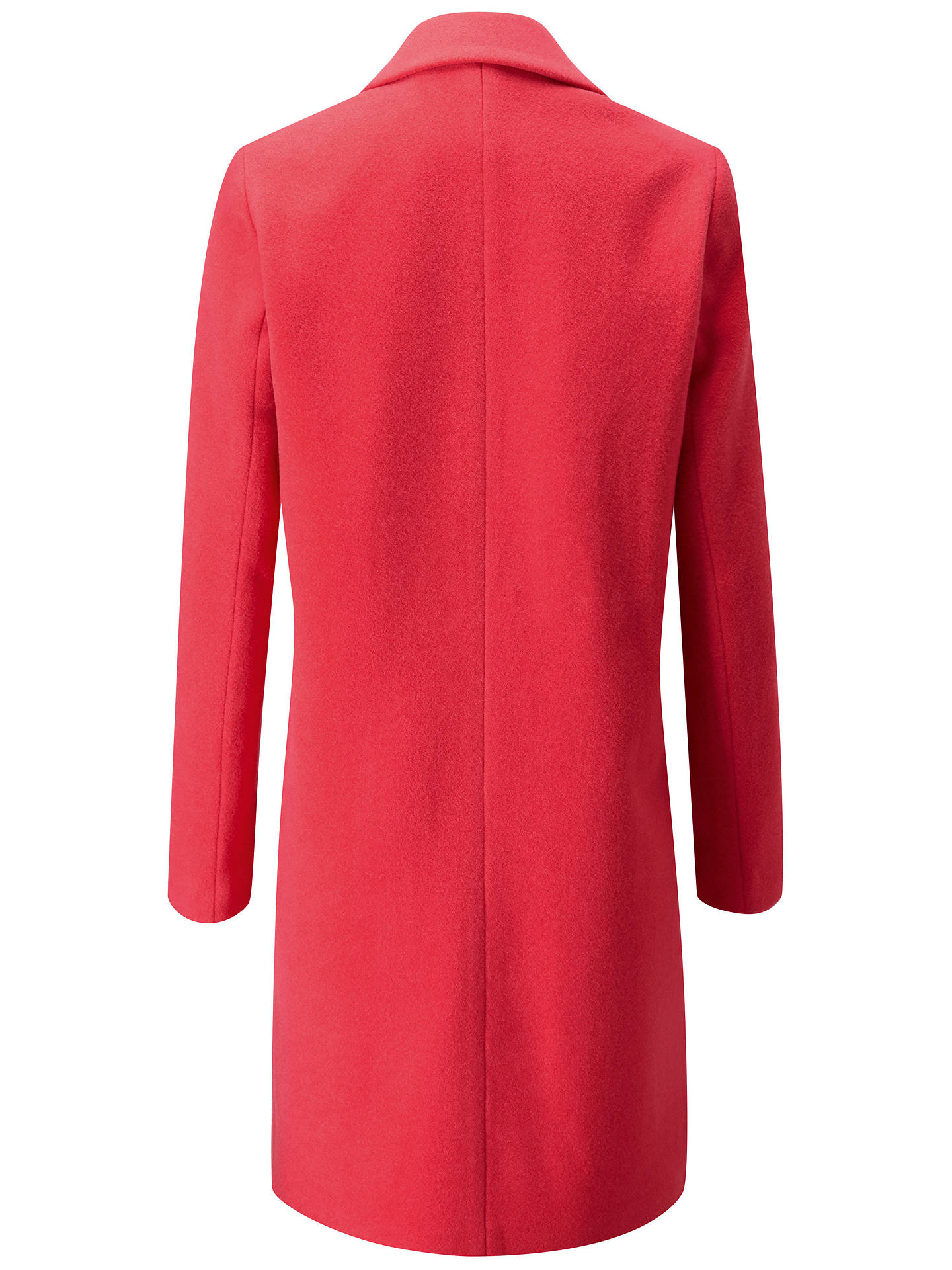 47c29f5efe Pure Collection Wool Single Breasted Coat, Coral at John Lewis ...