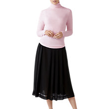 Buy Pure Collection Soft Pleat Skirt, Black Online at johnlewis.com