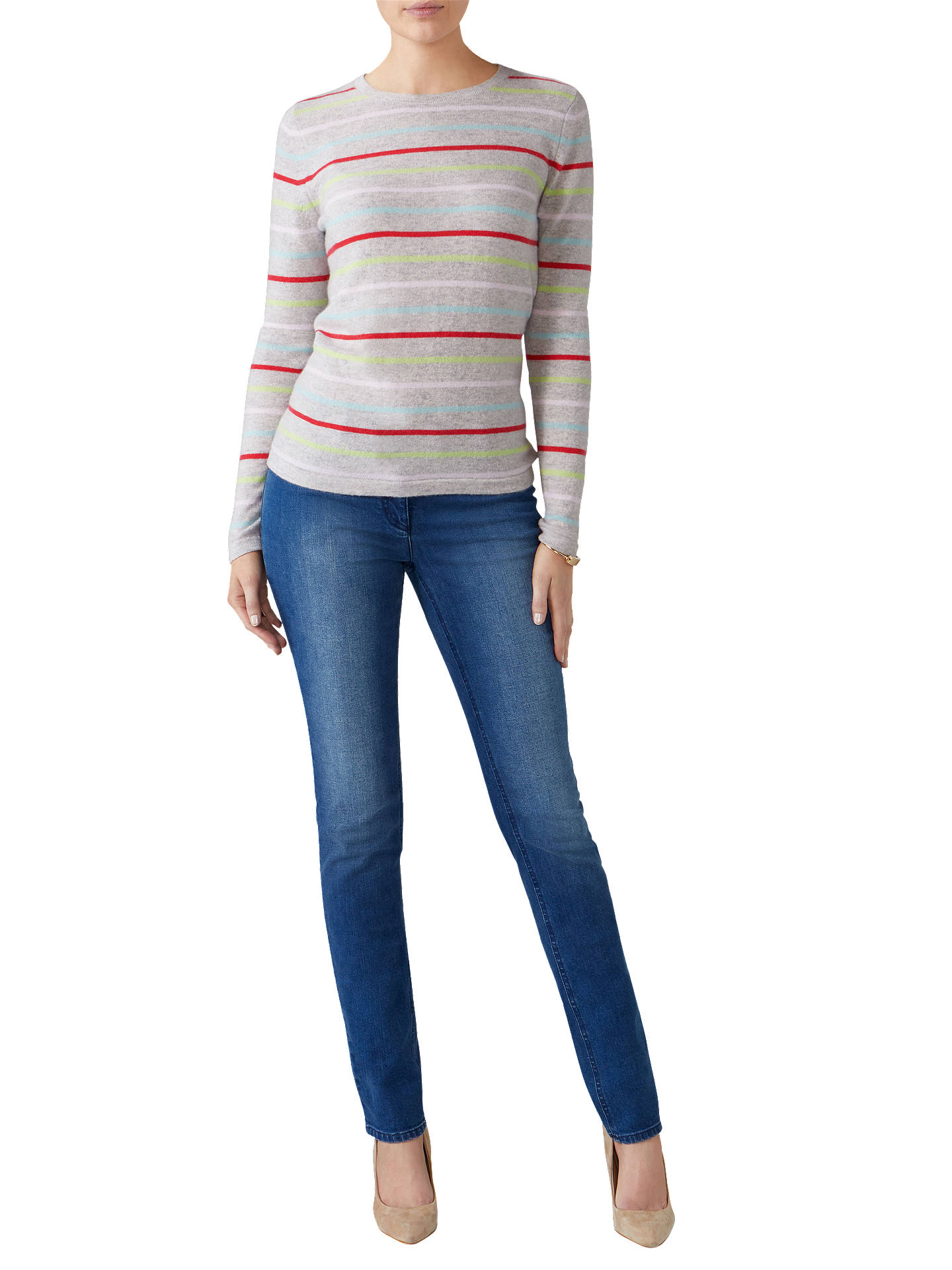 BuyPure Collection Slim Leg Jeans, Mid Wash, 8 Online at johnlewis.com