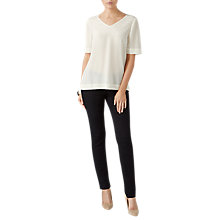 Buy Pure Collection Silk V-Neck Top, Ivory Online at johnlewis.com