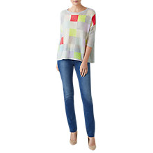 Buy Pure Collection Gassato Cashmere Check Jumper, Multi Online at johnlewis.com