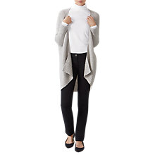 Buy Pure Collection Rib Textured Cardigan, Heather Dove Online at johnlewis.com