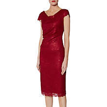 Buy Gina Bacconi Pamela Sequin Lace Dress, Red Online at johnlewis.com
