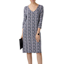 Buy Pure Collection Ditsy Print Dress, Navy Online at johnlewis.com