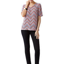 Buy Pure Collection Chevron Print Silk Top, Multi Online at johnlewis.com