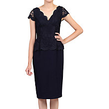 Buy Jolie Moi Capped Sleeve Lace Peplum Dress Online at johnlewis.com