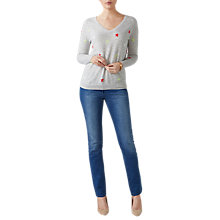 Buy Pure Collection Star Intarsia Cashmere Jumper, Multi Online at johnlewis.com