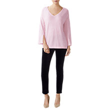 Buy Pure Collection Split Sleeve Relaxed Sweater, Rose Mist Online at johnlewis.com
