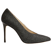 Buy Karen Millen Collection High Vamp Court Shoes, Denim Online at johnlewis.com