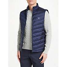 Buy GANT Airie Quilted Down Gilet, Navy Online at johnlewis.com