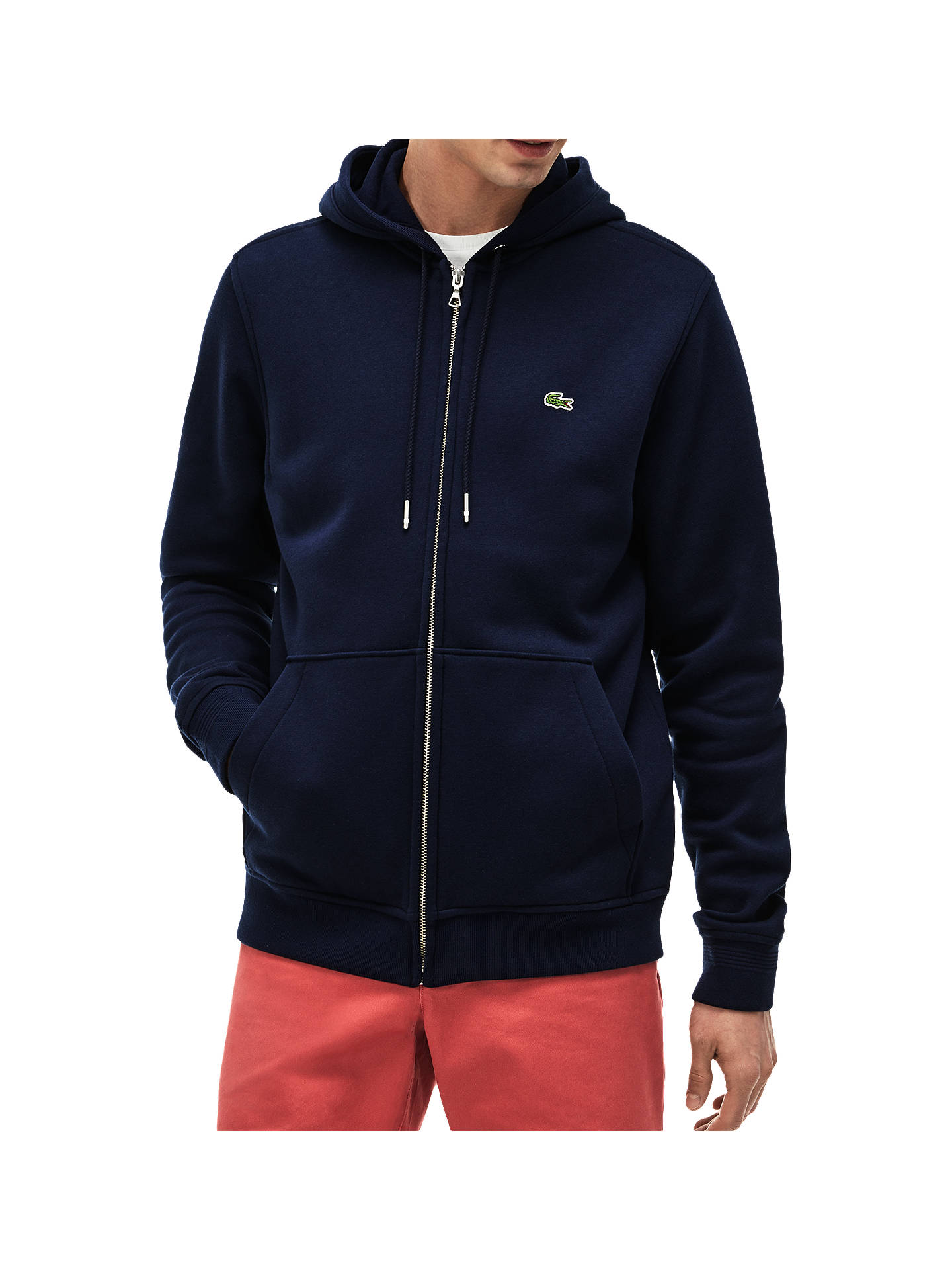 dab5e926fd29f6 Lacoste Classic Zip Through Hoodie at John Lewis   Partners