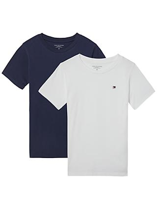 Tommy Hilfiger Cotton T-Shirts, Pack of 2, Blue/White