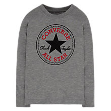 Buy Converse Boys' Long Sleeved Chuck Sweatshirt, Grey Heather Online at johnlewis.com
