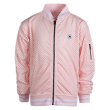 Buy Converse Girls' Mesh Bomber Jacket, Pink Online at johnlewis.com