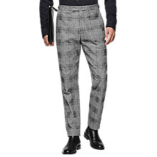 Buy Reiss Bragg Check Slim Fit Suit Trousers, Grey Online at johnlewis.com