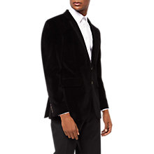 Buy Jaeger Velvet Blazer, Black Online at johnlewis.com