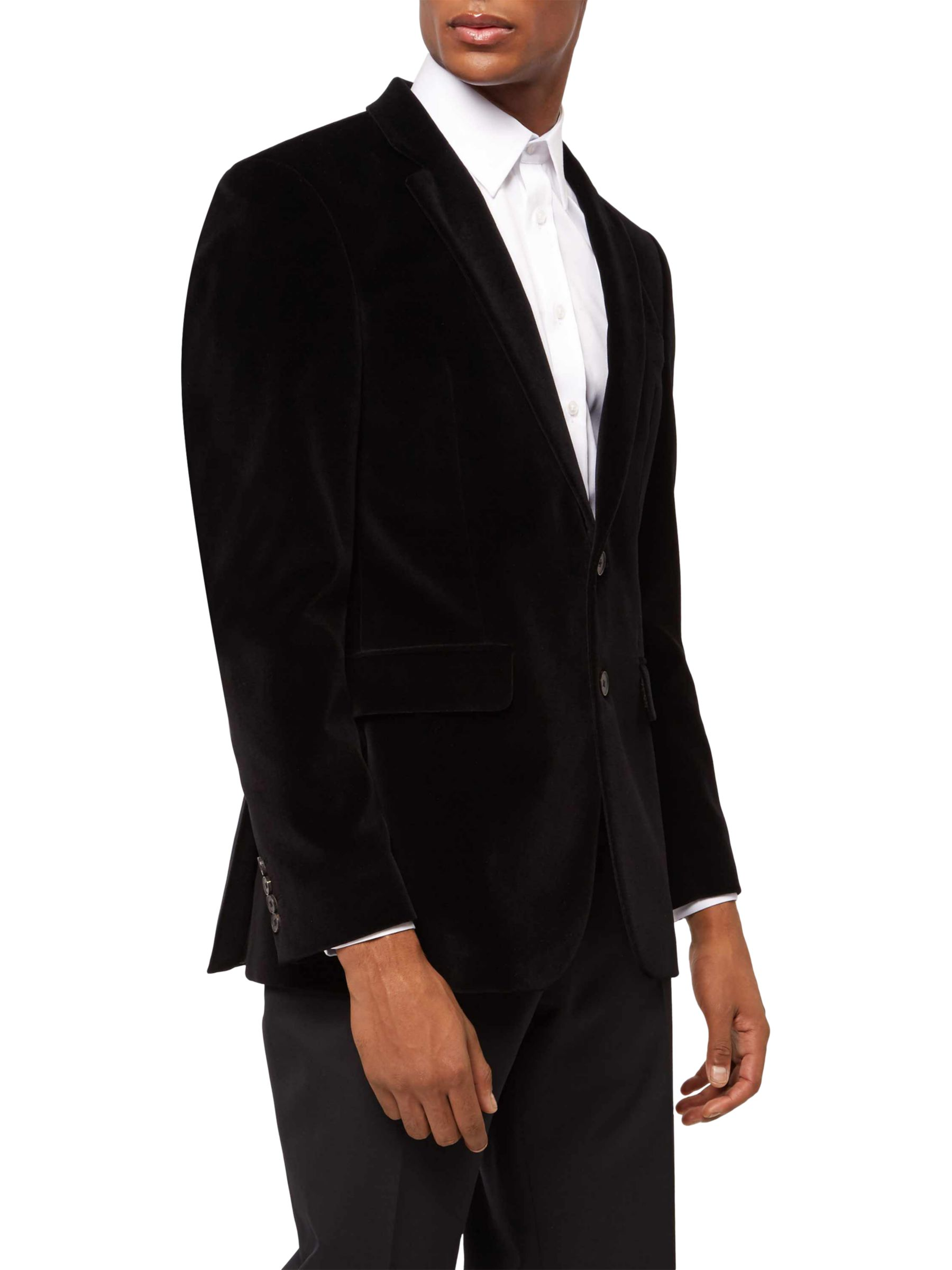 Jaeger Velvet Blazer Black At John Lewis Partners