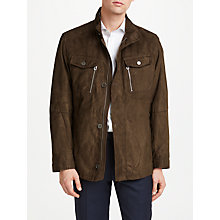 Buy Bugatti Microma Velour Water Repellent Jacket, Tobacco Online at johnlewis.com