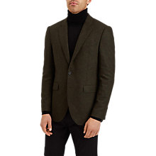 Buy Jaeger Melange Mouline Merino Blazer, Dark Green Online at johnlewis.com