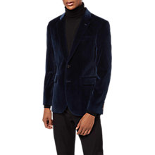 Buy Jaeger Velvet Blazer, Navy Online at johnlewis.com