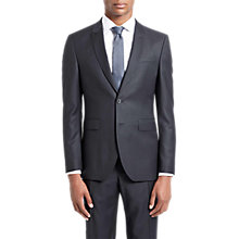 Buy Jaeger Textured Wool Slim Fit Suit Jacket, Black Online at johnlewis.com