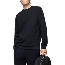 Buy Reiss Grange Quilted Sweatshirt, Navy Online at johnlewis.com