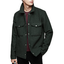 Buy Reiss Allan Boucle Textured Overshirt Online at johnlewis.com
