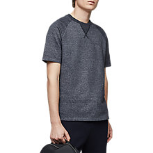 Buy Reiss Trouble Short Sleeve Sweatshirt, Navy Online at johnlewis.com