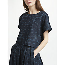 Buy Kin by John Lewis Cross Back Shell Top, Denim Online at johnlewis.com