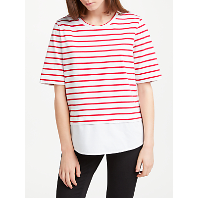 Kin by John Lewis Jersey Stripe T-Shirt With Woven Hem