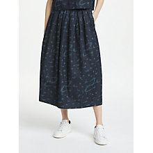 Buy Kin by John Lewis Utility Side Popper Skirt, Navy Online at johnlewis.com