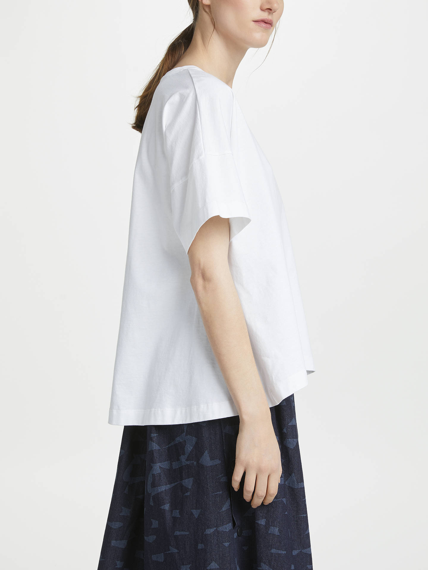 BuyKin Fluted Back T-Shirt, White, S Online at johnlewis.com