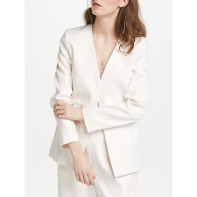 Modern Rarity Draw Waist Jacket, Cream